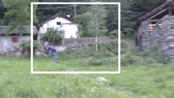 The farmhouse in Borgial where the model was held captive.