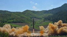 An ICBM is launched by North Korea in July.
