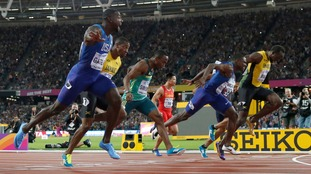 Justin Gatlin won in 9.92 seconds.