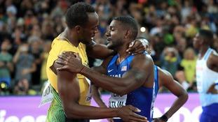 Bolt was beaten by American Justin Gatlin.