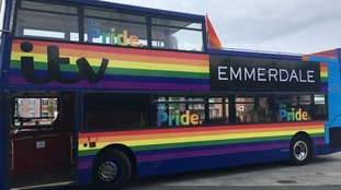 All aboard the Emmerdale Pride bus