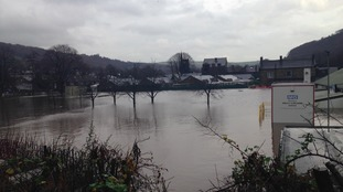 Flooded Mytholmroyd