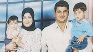 Iraqi prisoner Baha Mousa, pictured with his family.
