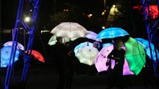 A colourful display wowed onlookers