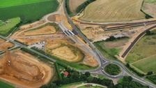 The A140 junction is under construction