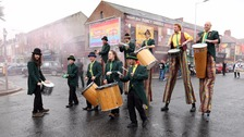 The carnival parade took place in Belfast on Sunday.