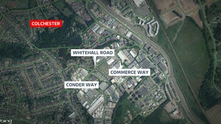 Cars parked along roads in the Hythe and Whitehall industrial area were targeted