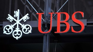 UBS bank in the city of London