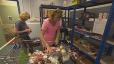 Organisers say they are having to feed record numbers of local people