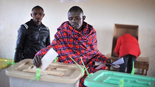 Kenyans were up early to vote on Tuesday.