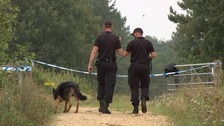 Sniffer dogs are being used as police step up their investigation.