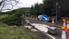 The fatal incident occured on the A7 road at Kirkton Burn bridges