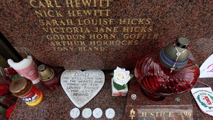 Families gathered at the Hillsborough memorial before travelling to London.