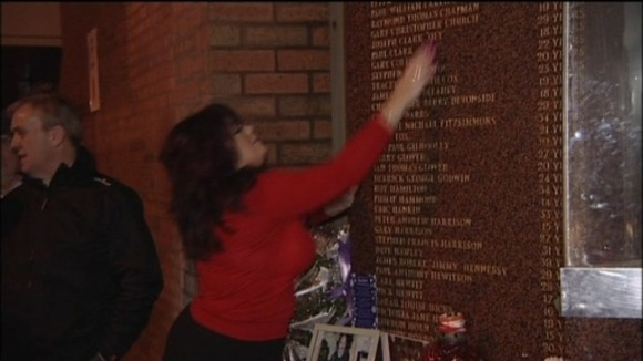 Families paid their respects to loved ones before travelling to London.