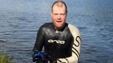 Douglas Waymark found himself in difficulties about half way through the swim.