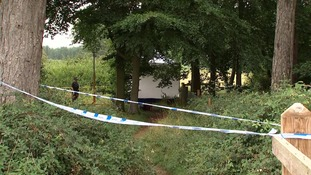 The man was walking in woodland near East Harling when he was attacked.