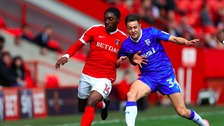Harry Cornick in action for Gillingham last season.