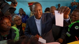 Kenya opposition disputes vote count showing President Kenyatta ahead