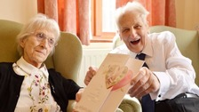 Len and Edna Evans have celebrated their 77th wedding anniversary