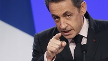 France's President is campaigning for the 2012 presidential elections