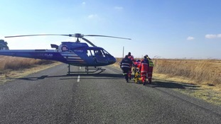 Helicopter lands at scene of crash on R509 in South Africa