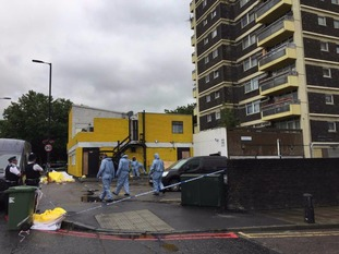 Scene of stabbing in Peckham