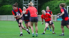 England's women prepare for the start of the Rugby World Cup.
