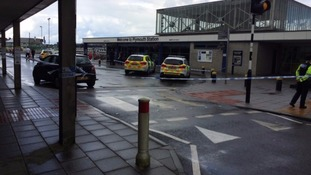 Wayne Fenton was stabbed at on the concourse at Plymouth station yesterday at 10am.