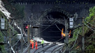 Driver praised as trains collide in tunnel after landslip