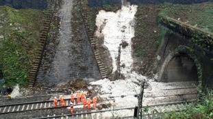 The landslip happened by outside a rail tunnel near Watford.