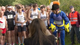 Partner of triathlete who died swimming the Channel makes emotional speech at tribute race