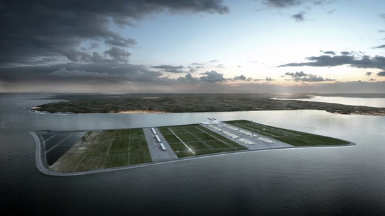 Artist's impression of airport