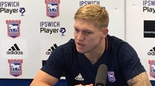 New Ipswich striker Martyn Waghorn says he relishes the challenge of Championship.