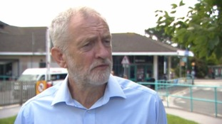 Jeremy Corbyn speaking to ITV News in Cornwall today.