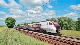 Bimode train can run on diesel or electric power