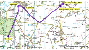 Norfolk Police have released a map of the route Peter Wrighton took on the day he was killed.