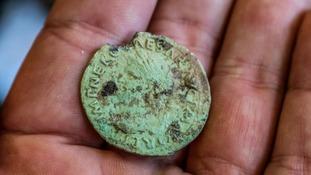 A roman coin.