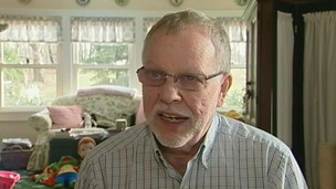 Retired psychologist Gene Rosen in his home in Newtown, Connecticut