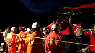 At least 36 people dead in China coach crash