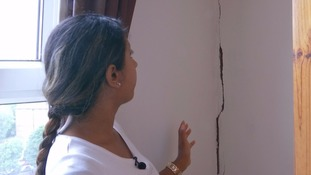 Residents complained about cracks in their walls.