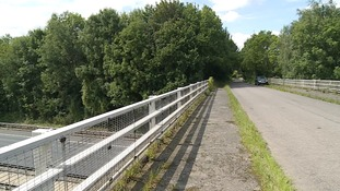 The Goose Lane bridge was closed as part of the investigation.