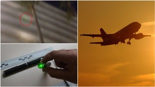 Father and son face £540,000 fine for allegedly pointing laser pens at planes in Malaga beach resort