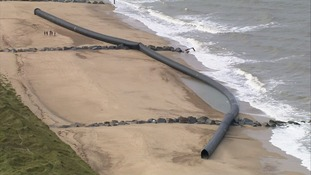 The pipes have been washed up at Winterton, Eccles and Sea Palling on the Norfolk coast north of Great Yarmouth.