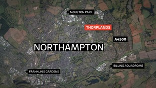The attack happened alongside Billing Brook in the Thorplands area of Northampton.