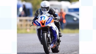 Jamie Hodson during the Ulster Grand Prix
