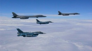 US bombers have completed a mission alongside Japan and South Korea East China Sea, and the Korean peninsula.