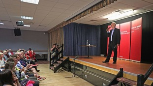 The Labour leader spoke to party member in Filton.