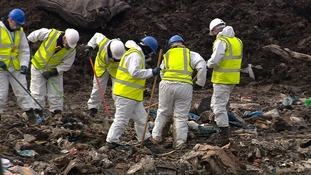A detailed search of a rubbish tip at Milton in Cambridgeshire was conducted over several weeks but failed to find anything.