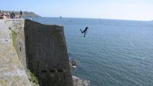 Police have issued a warning following the number of people still tombstoning.