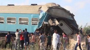 At least 36 killed in train crash in Egypt